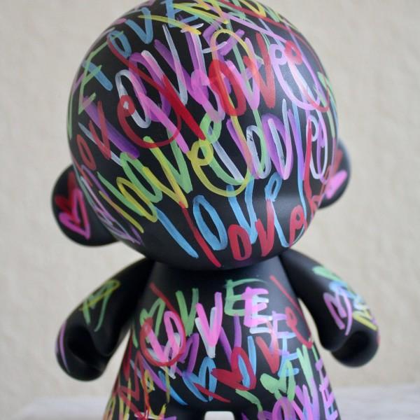 KIDROBOT Love 7 inches X 5 kid robot mega munny sculpture painting vinyl toy contemporary fine art modern street art heart graffiti tag